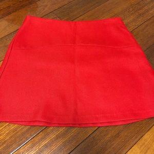 Zara Bright Red A-line Skirt